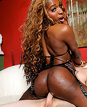 Ariel mandingo and rocky. Black Ariel rides a large white penish